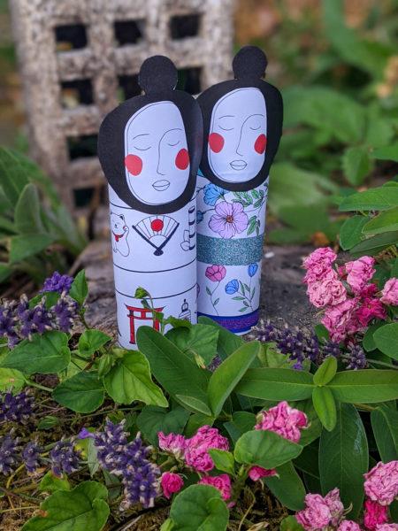 poupée japonaise à imprimer et à colorier
