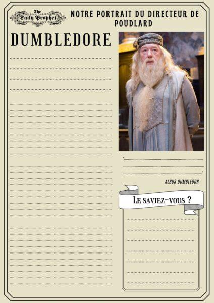 daily prophet en français gazette du sorcier Harry Potter à rédiger à imprimer