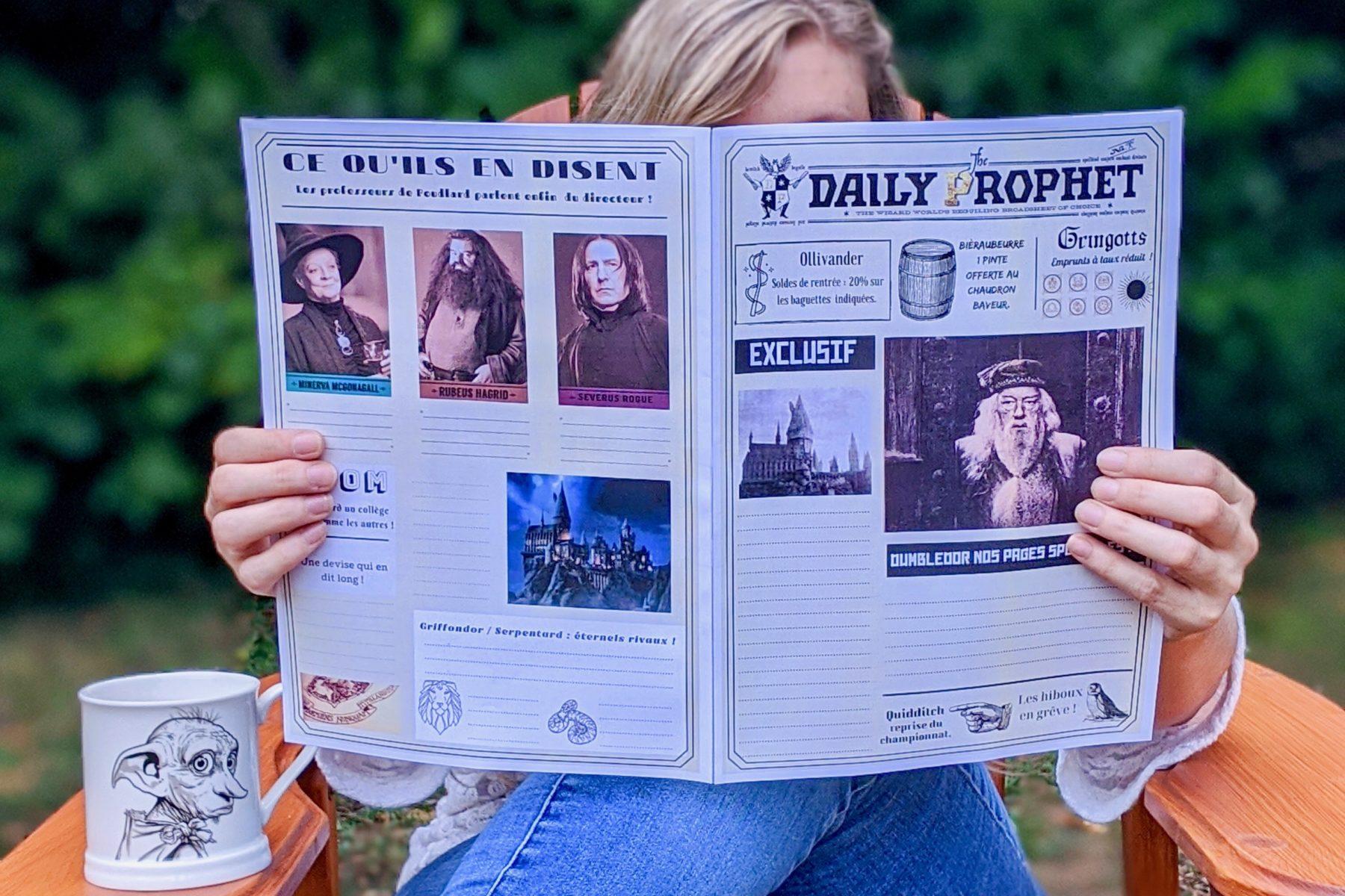 daily prophet en français gazette du sorcier Harry Potter à rédiger à imprimer 5eme 6eme