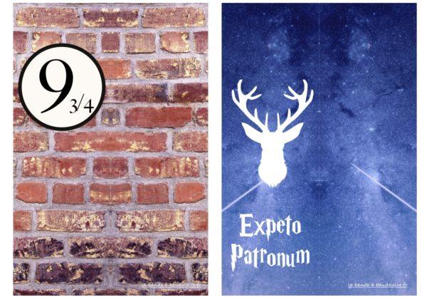 marque-pages Harry Potter à télécharger à imprimer Poudlard