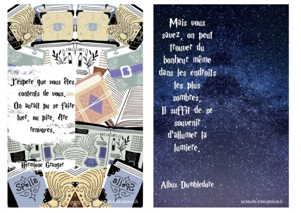 marque-pages Harry Potter à télécharger à imprimer la bande à Baudelaire gratuits
