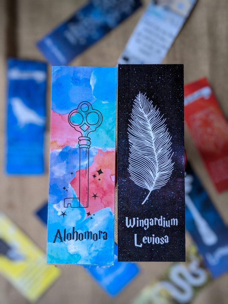 marque-pages Harry Potter à télécharger à imprimer gratuits sortilèges