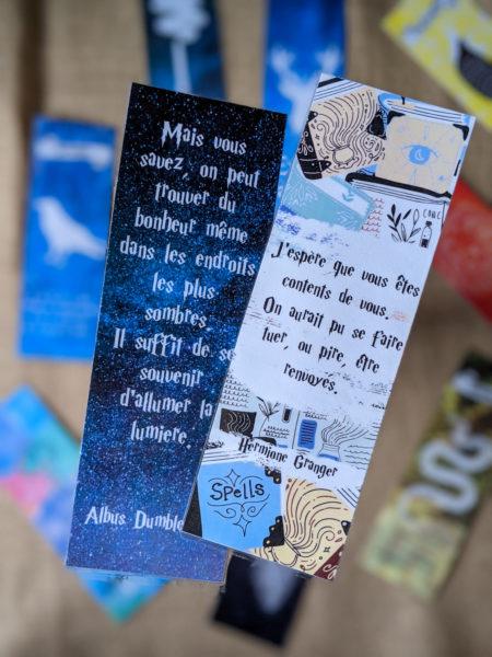 marque-pages Harry Potter à télécharger à l'école des sorciers citations