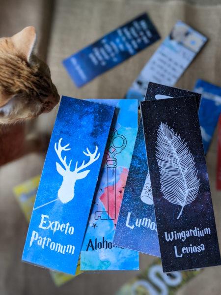marque-pages Harry Potter à télécharger expecto patronum alohomora lumos wingardium