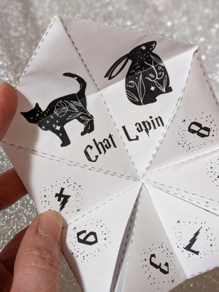 cocotte en papier Harry Potter à télécharger cootie catcher La bande à Baudelaire expecto patronum patronus poudlard