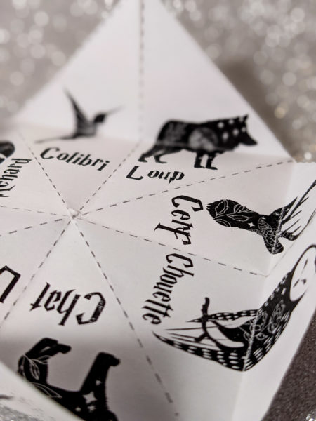 cocotte en papier Harry Potter cootie catcher La bande à Baudelaire expecto patronum free template