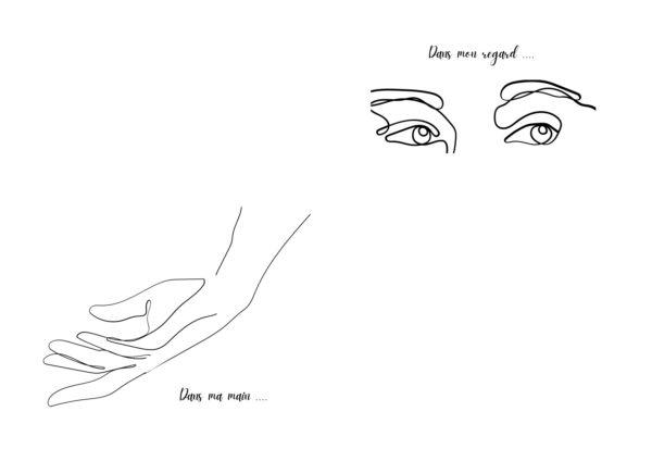dans ma main dans mon regard dire l'amour