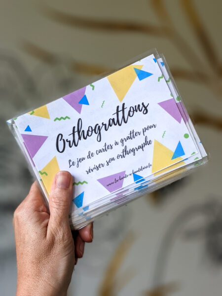 cartes à gratter orthographe